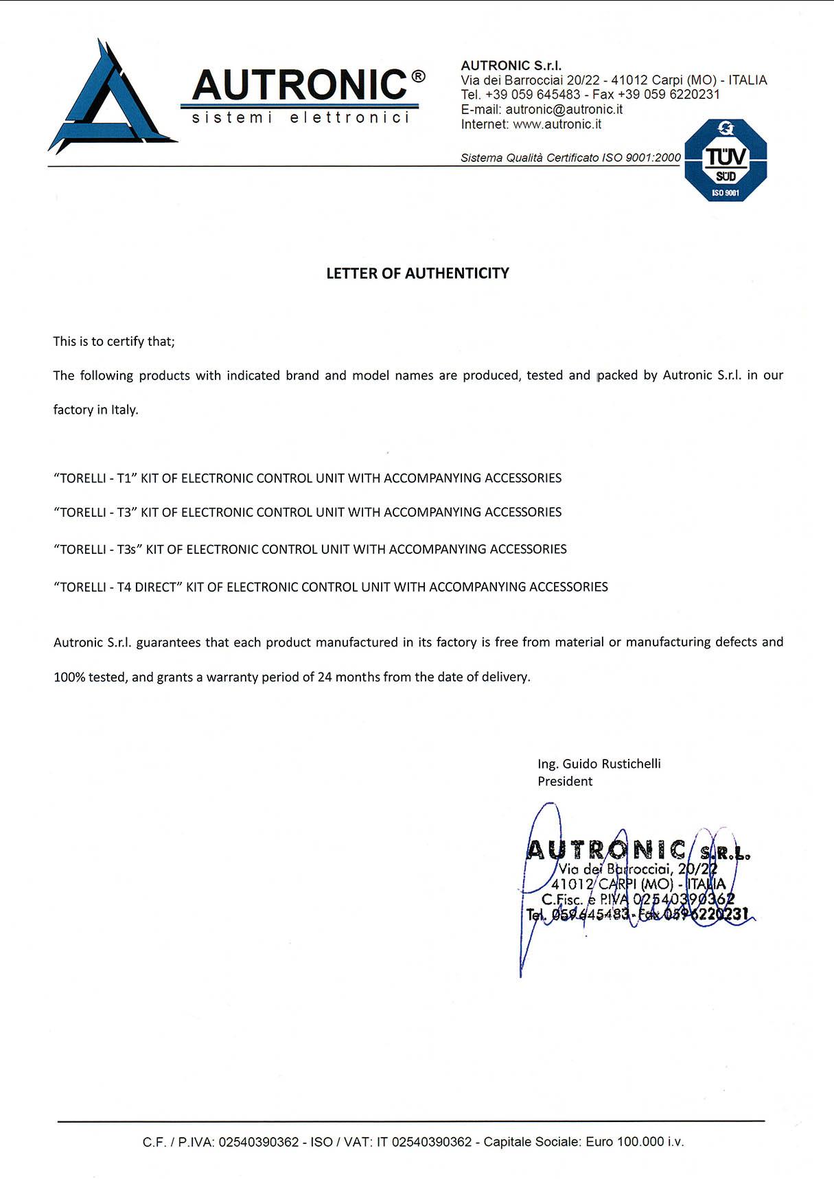 Мини-комплект ГБО 4 поколения Torelli T3 Pro OBD (редуктор Torelli Taurus, форсунки Torelli, фильтр, датчик уровня топлива AEB1090)